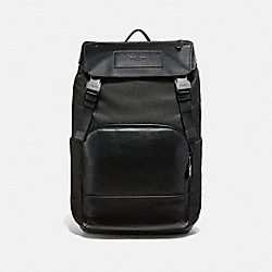 TERRAIN ROLL TOP BACKPACK - F50503 - BLACK/BLACK ANTIQUE NICKEL