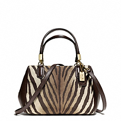 COACH F50507 - MADISON ZEBRA PRINT MINI SATCHEL ONE-COLOR