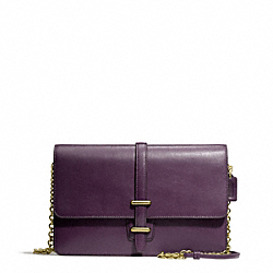 COACH F50509 Leather Slim Clutch BRASS/BLACK VIOLET