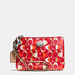 COACH F50523 Peyton Dream C Small Wristlet SILVER/VERMILLION MULIGHTICOLOR
