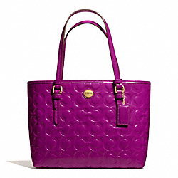 COACH F50540 - PEYTON OP ART EMBOSSED PATENT TOP HANDLE TOTE ONE-COLOR