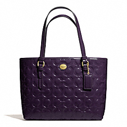 COACH F50540 - PEYTON OP ART EMBOSSED PATENT TOTE HANDLE TOTE ONE-COLOR