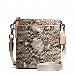 COACH F50543 - SIGNATURE STRIPE EMBOSSED EXOTIC SWINGPACK ONE-COLOR