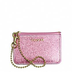 COACH F50558 Glitter Id Skinny BRASS/PINK