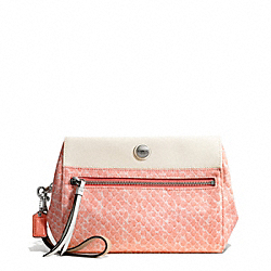 COACH F50593 - RESORT SNAKE PRINT BOXY CLUTCH ONE-COLOR