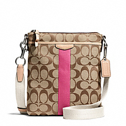 COACH F50600 - SIGNATURE STRIPE 12CM NORTH/SOUTH SWINGPACK ONE-COLOR