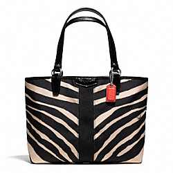 COACH F50643 - SIGNATURE ZEBRA PRINT TOP HANDLE TOTE ONE-COLOR