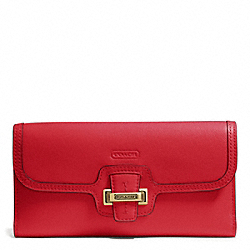 COACH TAYLOR LEATHER CHECKBOOK WALLET - ONE COLOR - F50653