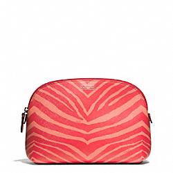 COACH F50658 Zebra Print Cosmetic Case