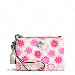 COACH F50684 Floral Print Small Wristlet