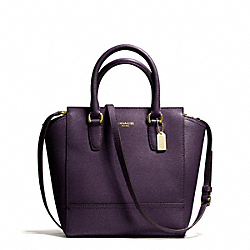 COACH F50707 Saffiano Leather Mini Tanner BRASS/BLACK VIOLET