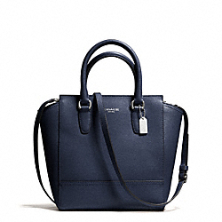 COACH F50707 - SAFFIANO MINI TANNER CROSSBODY SILVER/NAVY