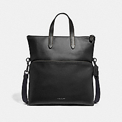 GRAHAM FOLDOVER TOTE - F50712 - BLACK/BLACK ANTIQUE NICKEL