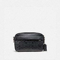 GRAHAM CROSSBODY IN SIGNATURE LEATHER - F50713 - BLACK/BLACK ANTIQUE NICKEL