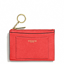 COACH F50732 Saffiano Leather Medium Skinny LIGHT GOLD/LOVE RED