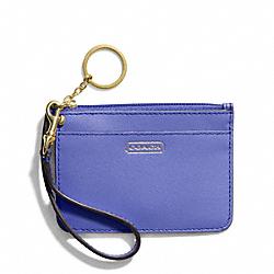 COACH F50735 Darcy Leather Id Skinny BRASS/PORCELAIN BLUE