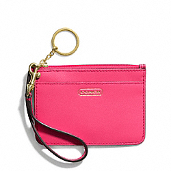 COACH F50735 Darcy Id Skinny In Leather BRASS/POMEGRANATE