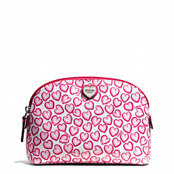 COACH F50774 Heart Print Small Cosmetic Case