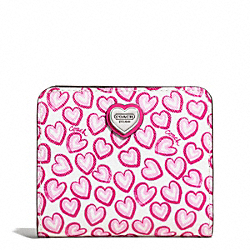 COACH F50776 Heart Print Small Wallet