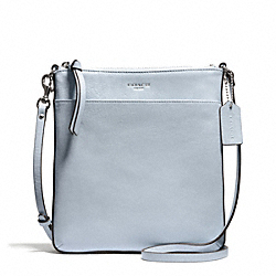 BLEECKER LEATHER NORTH/SOUTH SWINGPACK - f50805 - SILVER/POWDER BLUE