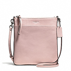 BLEECKER LEATHER NORTH/SOUTH SWINGPACK - f50805 - SILVER/PEACH ROSE