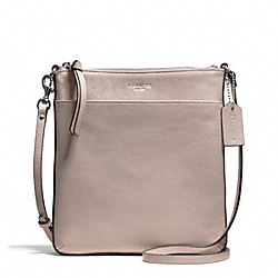 BLEECKER LEATHER NORTH/SOUTH SWINGPACK - f50805 - SILVER/GREY BIRCH