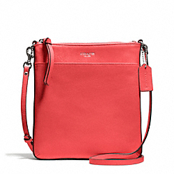 BLEECKER LEATHER NORTH/SOUTH SWINGPACK - f50805 - SILVER/LOVE RED