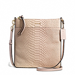 COACH F50829 - MADISON BONDED LEATHER NORTH/SOUTH SWINGPACK LIGHT GOLD/BLUSH