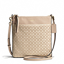 COACH F50834 - MADISON OP ART PEARLESCENT NORTH/SOUTH SWINGPACK LIGHT GOLD/KHAKI