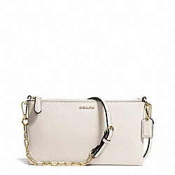 COACH F50839 - KYLIE SAFFIANO LEATHER  CROSSBODY LIGHT GOLD/PARCHMENT