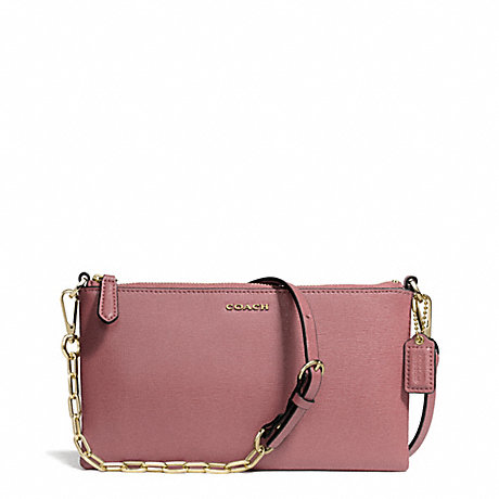 COACH f50839 KYLIE SAFFIANO LEATHER CROSSBODY LIGHT GOLD/ROUGE