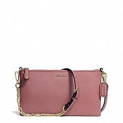 COACH F50839 - KYLIE SAFFIANO LEATHER CROSSBODY LIGHT GOLD/ROUGE