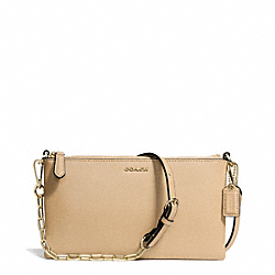 COACH F50839 Kylie Saffiano Leather Crossbody LIGHT GOLD/TAN
