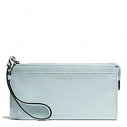 COACH F50860 Bleecker Leather Zippy Wallet SILVER/SEA MIST