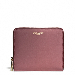 COACH F50924 Medium Saffiano Leather Continental Zip Wallet