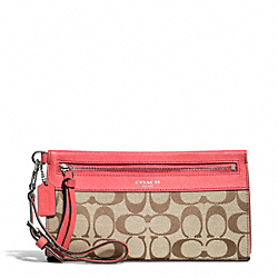 COACH F50956 Signature Large Wristlet