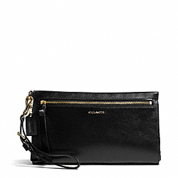 COACH F50984 Madison Two Tone Python Embossed Leather Large Wristlet