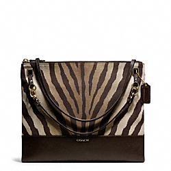 COACH F51086 - MADISON ZEBRA PRINT FABRIC CONVERTIBLE HIPPIE ONE-COLOR