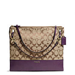 COACH F51090 - MADISON SIGNATURE CONVERTIBLE HIPPIE LIGHT GOLD/KHAKI/BLACK VIOLET