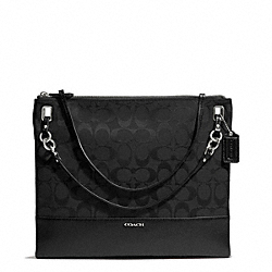 COACH F51090 - MADISON SIGNATURE CONVERTIBLE HIPPIE SILVER/BLACK/BLACK