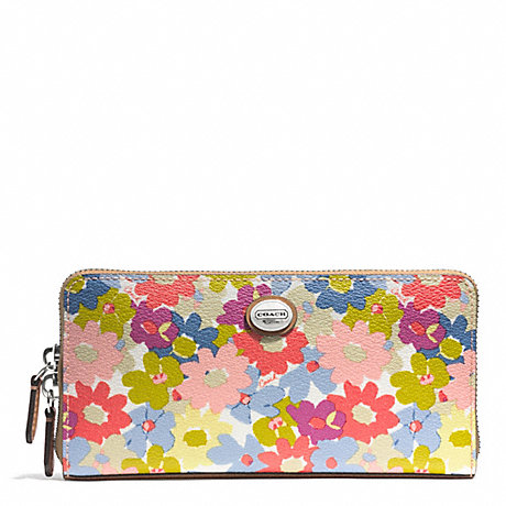 COACH f51129 PEYTON FLORAL ACCORDION ZIP WALLET
