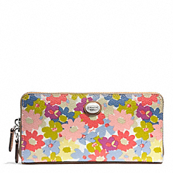 PEYTON FLORAL ACCORDION ZIP WALLET - f51129 - F51129SVMC