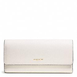 COACH F51133 Saffiano Leather Slim Envelope Wallet LIGHT GOLD/PARCHMENT