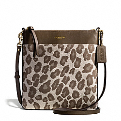 COACH F51140 Madison Ocelot Jacquard North/south Swingpack LIGHT GOLD/CHESTNUT