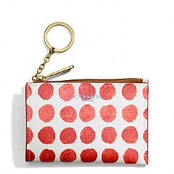 COACH F51145 Bleecker Painted Dot Coated Canvas Mini Skinny