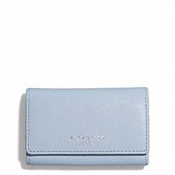 COACH F51167 Bleecker Leather 6-ring Key Case SILVER/POWDER BLUE