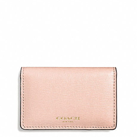 Coach f51171 saffiano leather business card case light gold coach f51171 saffiano leather business card case light goldpeach rose colourmoves