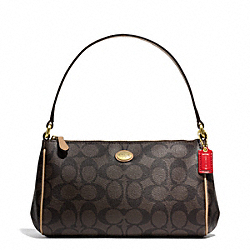 COACH F51185 Peyton Signature Top Handle Pouch