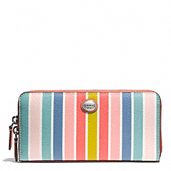 COACH F51199 Peyton Multistripe Accordion Zip Wallet