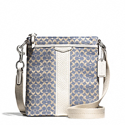 COACH F51252 Signature Stripe Jacquard Swingpack